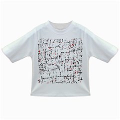 red, white and black pattern Infant/Toddler T-Shirts