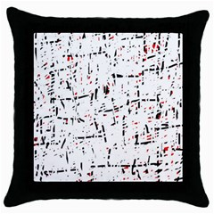 red, white and black pattern Throw Pillow Case (Black)