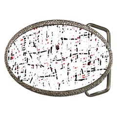 red, white and black pattern Belt Buckles