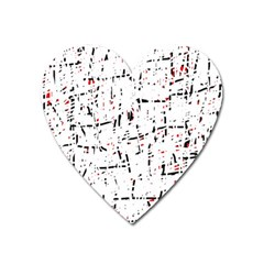 red, white and black pattern Heart Magnet