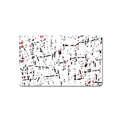 red, white and black pattern Magnet (Name Card)