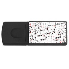 red, white and black pattern USB Flash Drive Rectangular (2 GB)
