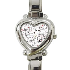 red, white and black pattern Heart Italian Charm Watch