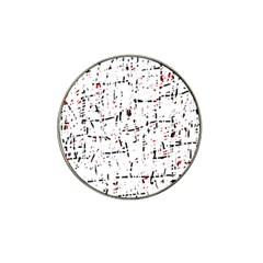 Red, White And Black Pattern Hat Clip Ball Marker