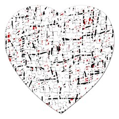 red, white and black pattern Jigsaw Puzzle (Heart)