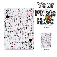 red, white and black pattern Playing Cards 54 Designs