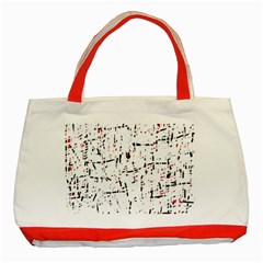 red, white and black pattern Classic Tote Bag (Red)