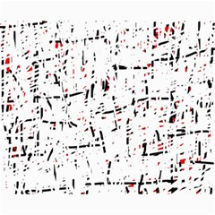 red, white and black pattern Canvas 8  x 10