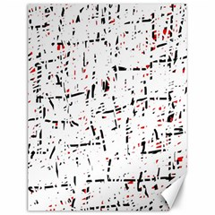 red, white and black pattern Canvas 12  x 16