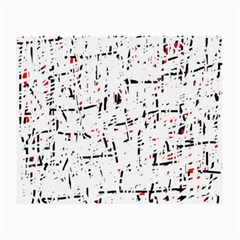 red, white and black pattern Small Glasses Cloth (2-Side)