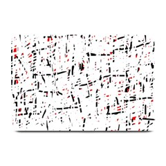 red, white and black pattern Plate Mats