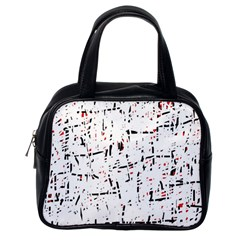 red, white and black pattern Classic Handbags (One Side)