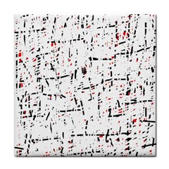 red, white and black pattern Face Towel