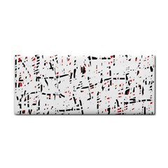 red, white and black pattern Hand Towel