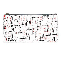 red, white and black pattern Pencil Cases