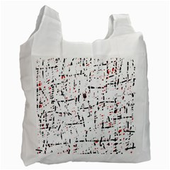 red, white and black pattern Recycle Bag (One Side)