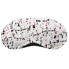 red, white and black pattern Sleeping Masks