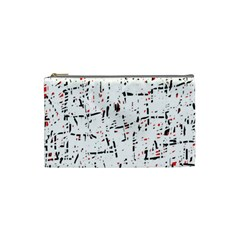 red, white and black pattern Cosmetic Bag (Small)