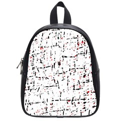 red, white and black pattern School Bags (Small)