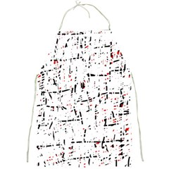 red, white and black pattern Full Print Aprons