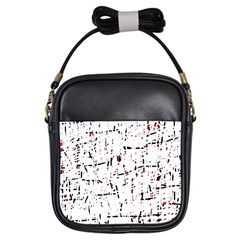 red, white and black pattern Girls Sling Bags
