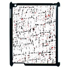 red, white and black pattern Apple iPad 2 Case (Black)