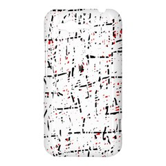 red, white and black pattern HTC Rhyme