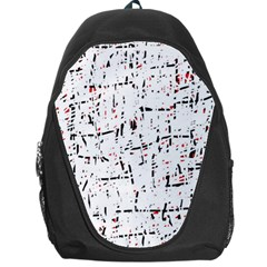 red, white and black pattern Backpack Bag