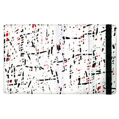 red, white and black pattern Apple iPad 2 Flip Case