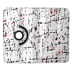 red, white and black pattern Samsung Galaxy Note II Flip 360 Case