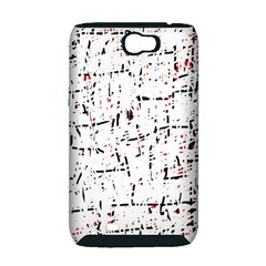 red, white and black pattern Samsung Galaxy Note 2 Hardshell Case (PC+Silicone)
