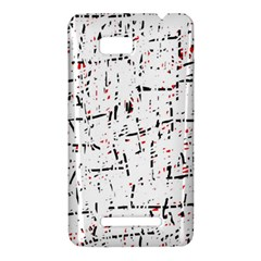 red, white and black pattern HTC One SU T528W Hardshell Case