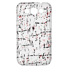 red, white and black pattern Samsung Galaxy Win I8550 Hardshell Case