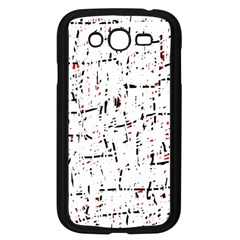 red, white and black pattern Samsung Galaxy Grand DUOS I9082 Case (Black)