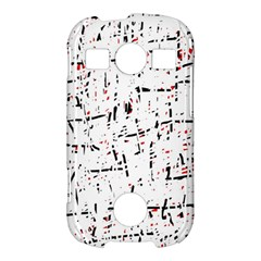 red, white and black pattern Samsung Galaxy S7710 Xcover 2 Hardshell Case