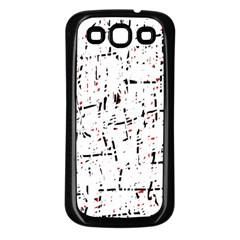 red, white and black pattern Samsung Galaxy S3 Back Case (Black)
