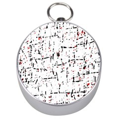 red, white and black pattern Silver Compasses