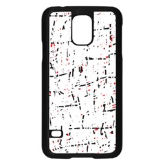 red, white and black pattern Samsung Galaxy S5 Case (Black)