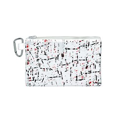 red, white and black pattern Canvas Cosmetic Bag (S)