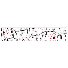 red, white and black pattern Flano Scarf (Small)