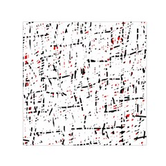 red, white and black pattern Small Satin Scarf (Square)