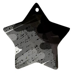 Black and gray pattern Ornament (Star)