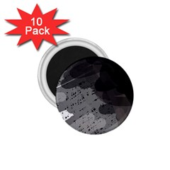 Black and gray pattern 1.75  Magnets (10 pack)