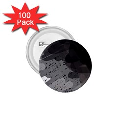 Black and gray pattern 1.75  Buttons (100 pack)