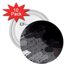 Black and gray pattern 2.25  Buttons (10 pack)