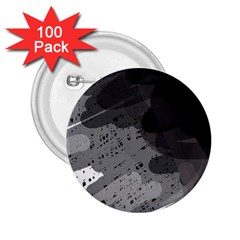 Black and gray pattern 2.25  Buttons (100 pack)
