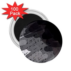 Black and gray pattern 2.25  Magnets (100 pack)