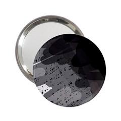 Black and gray pattern 2.25  Handbag Mirrors