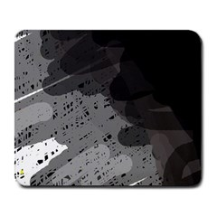 Black and gray pattern Large Mousepads