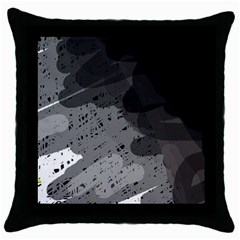 Black and gray pattern Throw Pillow Case (Black)